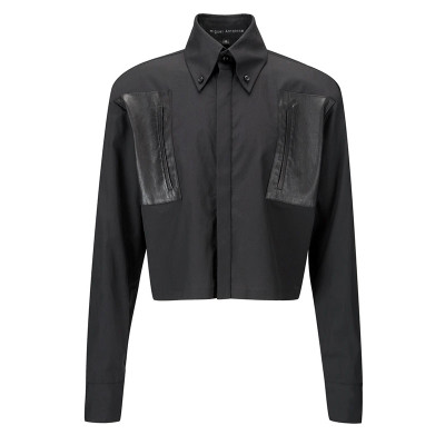 Cropped Shirt - Blk