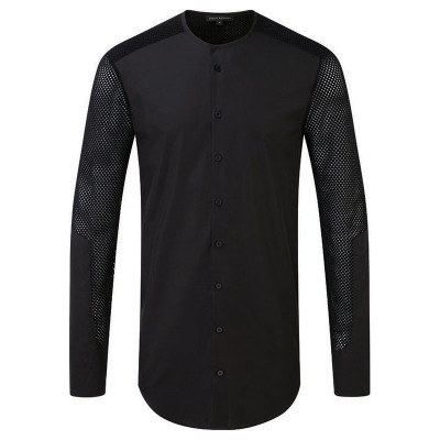 Perforated Sleeve Button Down