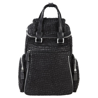 Serrated Leather Back Pack