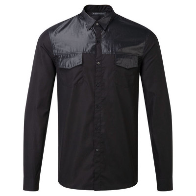 Contrast Wing Collar Shirt