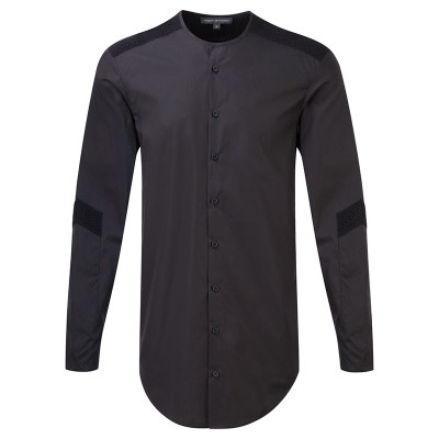 Perforated Contrast Shirt