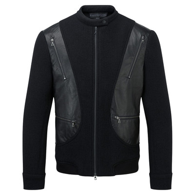 Wool + Leather Zip Jacket