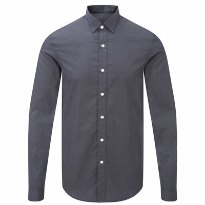 Pin Dot Wing Collar Shirt
