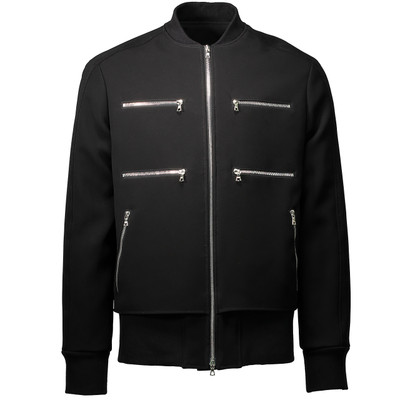 Neoprene Layered Bomber Jacket