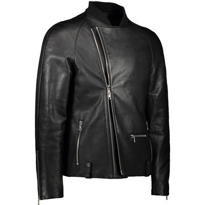 Raglan, Leather, Biker Jacket