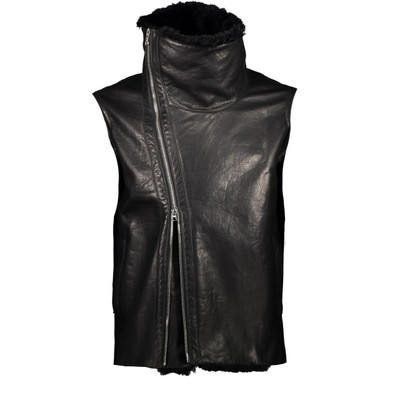 Leather, Shearling Biker Vest