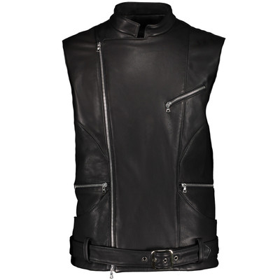 Axel Leather Biker Vest
