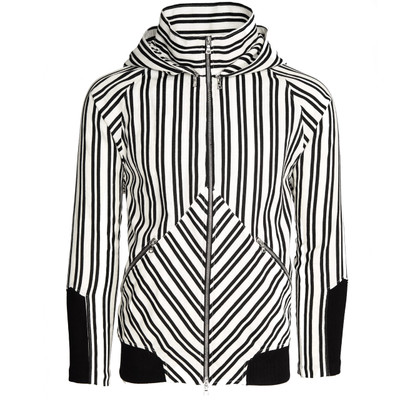 Mock Neck Striped Hoodie