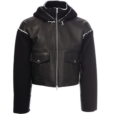 Tino Hooded Leather Jacket