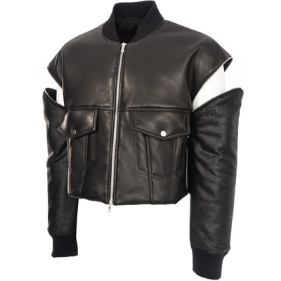 Zip off Sleeves Leather Jacket