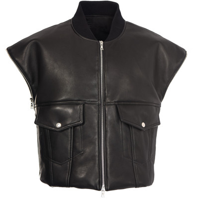 Padded Leather Vest