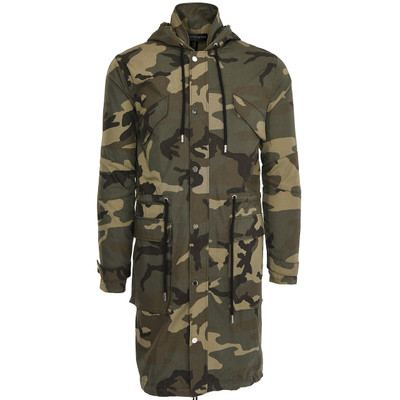 Camouflage Military Trench Coat