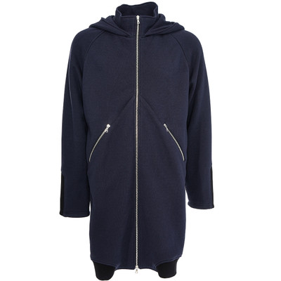 Elongated Mock Neck Hoodie