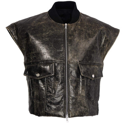 Vintage Leather Padded Vest