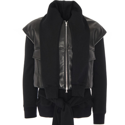 Layered Caterpillar Leather Vest