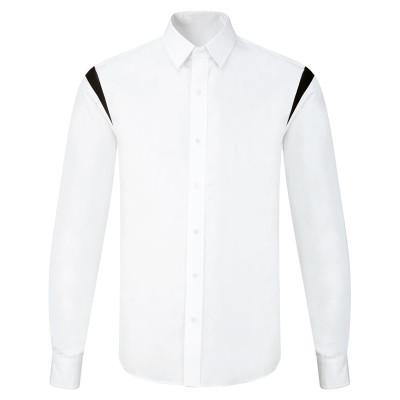 Contrast Point Collar Formal Shirt