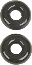Lee's RK27GR - Glass Rings (Black Glass)