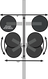 Diagram of the Komodo - Single Bike Rack for Sports Cars & Convertibles (BB3009)