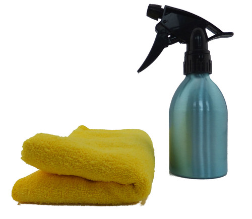 Cleaning Kit - Water Spray Bottle and Micro-Fibre Cloth