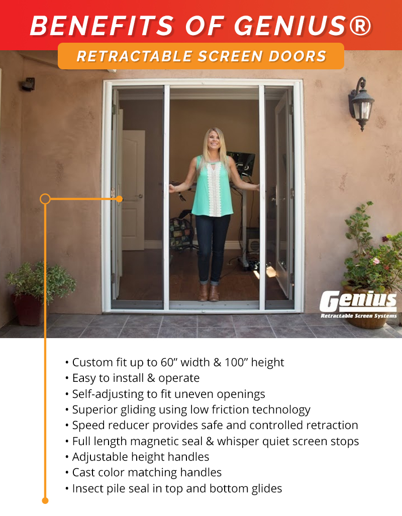 Genius Retractable Screens Top Rated Custom Made Window Screens