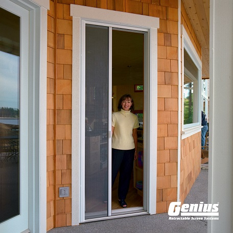 Best retractable screen doors large retractable screens for Best sliding screen door