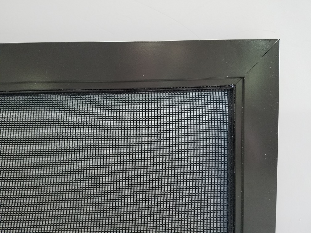 porch screen panel made of extruded aluminum