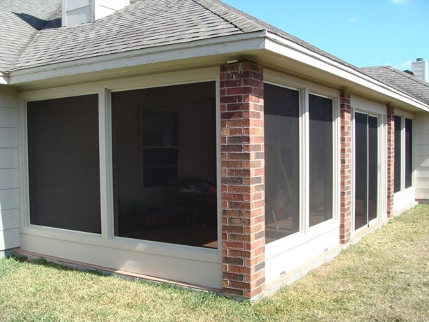 PORCH SCREEN PANELS INSTALLED ON PORCH ENCLOSURE OR ANY LARGE OPENING