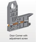 Door Corner bracket with screw - Part # 20.50.00.3209
