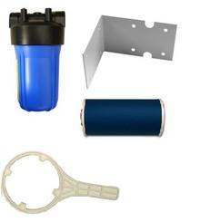 "10"" Housing Filter Kit with Jumbo Carbon Filter Bracket Spanner 1"" Ports"