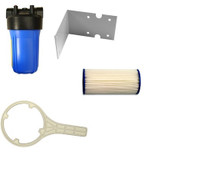 """2G600PE Pre-filter Kit with Jumbo 30 Micron Pleated Filter Bracket Spanner 1"""" Ports"""