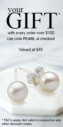 Free Pearl earrings with orders over $100