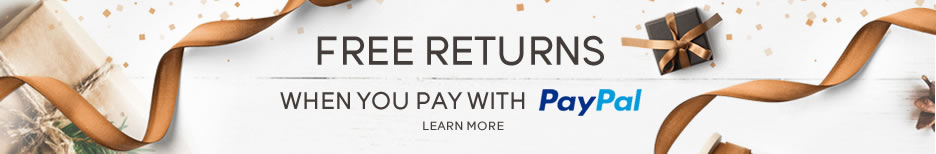 Get free returns by paying with PAYPAL