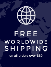 Free Worldwide Delivery on all orders over $89