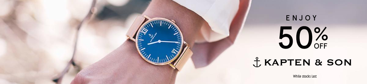 Enjoy 30% off All Kapten and Son Watches