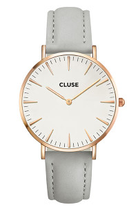 Cluse La Bohème Rose Gold White Grey Womens Watch CL18015