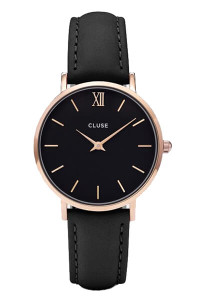Cluse Minuit Rose Gold Black/Black Watch CL30022