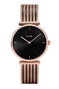 Cluse Triomphe Mesh Bicolor Rose Gold/Black Watch CL61005