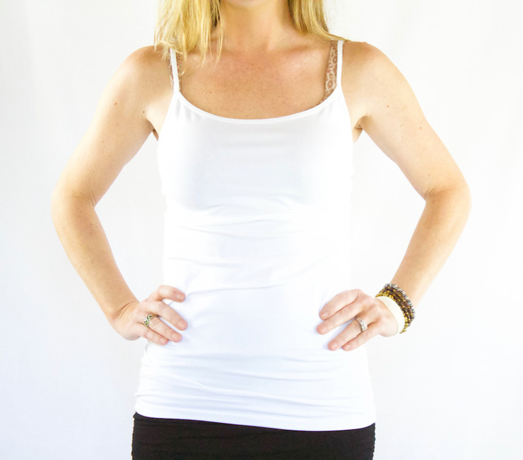 On Top® by HYH: Slim Fit Adjustable Spaghetti Strap Tank Top