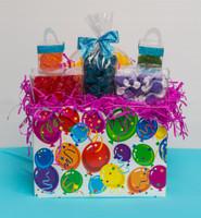Birthday Ballons Basket