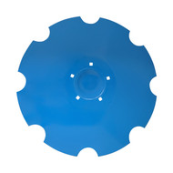 "24"" x 6mm Flat Back with Special Crimp Lemken Notched Flat Back Disc Blades (DNF156069)"