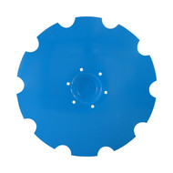 "30"" x 6mm Flat Back with Special Crimp Lemken Notched Flat Back Disc Blades (DNF196069)"