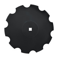 "26"" x 6mm Notched Raised Crimp Center Disc Blades (DNF176061)"