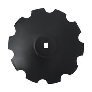 "28"" x 6mm Notched Raised Crimp Center Disc Blades (DNF186061)"