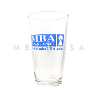 PINT GLASS WITH MBA LOGO