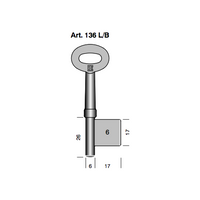 BORKEY KEY BLANK ART 136LB/65