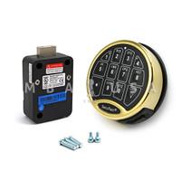 SafeLogic Basic, Back-Lit, Brass Keypad & Dead Bolt Lock