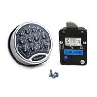 SafeLogic Basic, Back-Lit, Chrome Keypad & Swing Bolt Lock