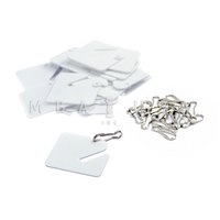 PLAIN TAGS & SNAPS - 20 PACK