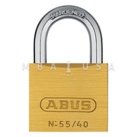 ABUS 55 SERIES 55/40 SOLID BRASS PADLOCK - KEYED ALIKE