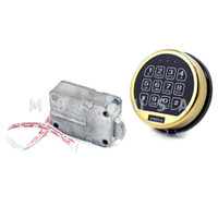 OMEGA ELECTRONIC LOCK W/ BRASS KEYPAD & SWINGBOLT LOCK BODY